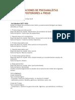 Aportaciones de Psicoanalístas Posteriores a Freud