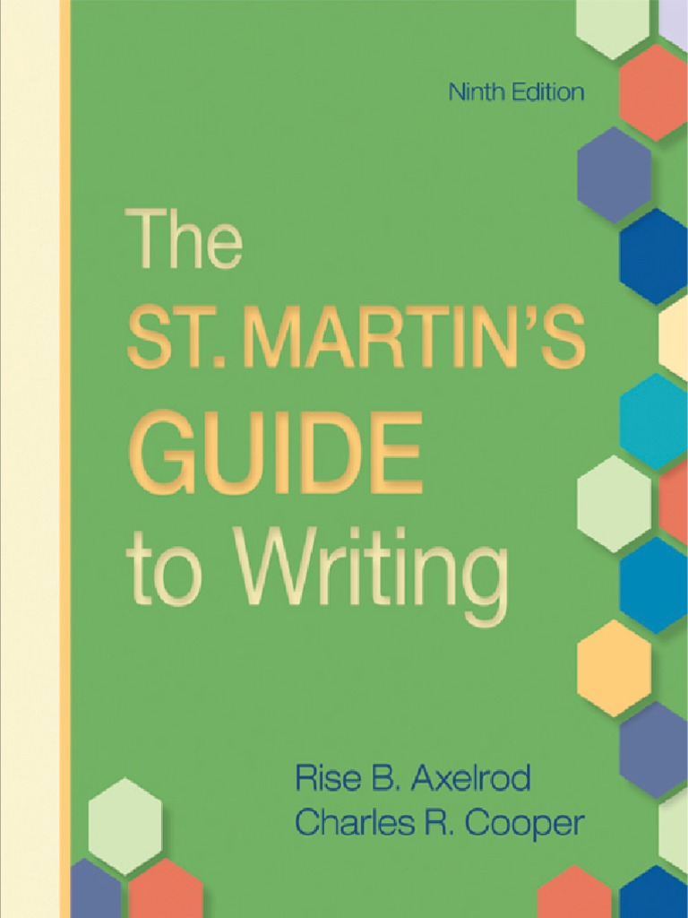 The st martins guide to writing ninth edition genre essays fandeluxe Images