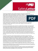 November 2014 Safety Letter