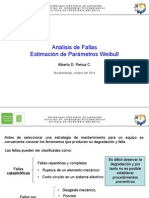 Parametros de Fallas y Weibull