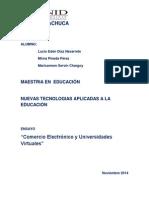 Comercio Electrónico y universidades en línea