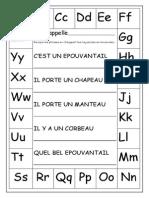 epouvantail alphabet