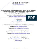 A Comparison of Web-Based and Paper-Based Survey Methods