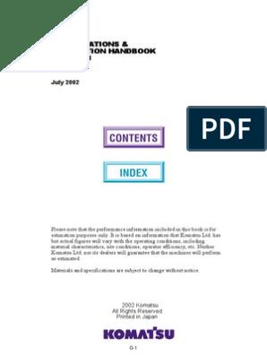 Komatsu_handbook_edition23 pdf | Loader (Equipment) | Tractor