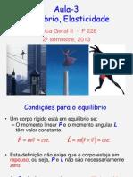 [F228][2013.2] Aula Magna 03 - Equilíbrio e Elasticidade