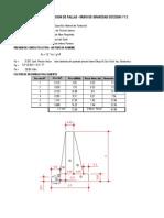 Hoja de calculo para diseño y verificacion Muros de Gravedad