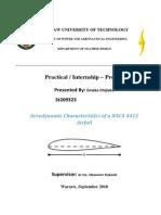 Aerodynamic Characteristics of a NACA 4412 Airfoil