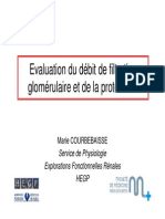Evaluation Du Dfg Et de La Proteinurie
