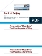 day 4 powerpoint bank of beijing fall 2014 - presentation skills - transitions between blocks