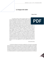 Diego Tatián - La Lengua Del Saber