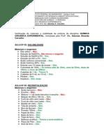 PRÁTICAS QOE (Verificação de Materias e Reagentes)