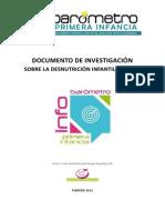 informe sobre la desnutricion