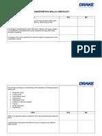 Anaesthetics Skills Checklist.doc