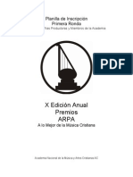 Formulario de Inscripcion...ARPA