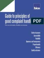 Bio a Good Complaint Handling