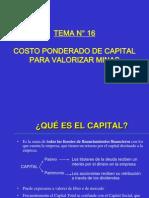 VALORIZACIÓN MINERA 5 - COSTO PONDERADO DE CAPITAL PARA VALORIZAR MINAS