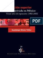 Educacion Superior en Mexico