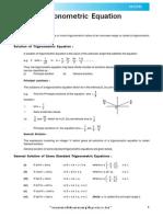 Trogonometric Equation Theory e