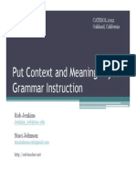 Grammar in Context Ppt