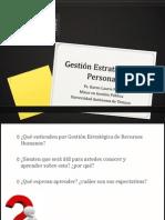 PPT Gestión Estratégica administracionde Personas
