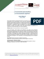 El Inconsciente Psicoanalítico y El Cognitivo (Migone, 2010)