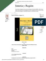 Revista Historia y Región Sumario Historia y Región N°2