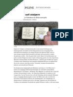 Stolpersteine Holocaust Gedenken Muenchen