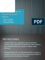 Tecnologías de La Comunicación (TICS)