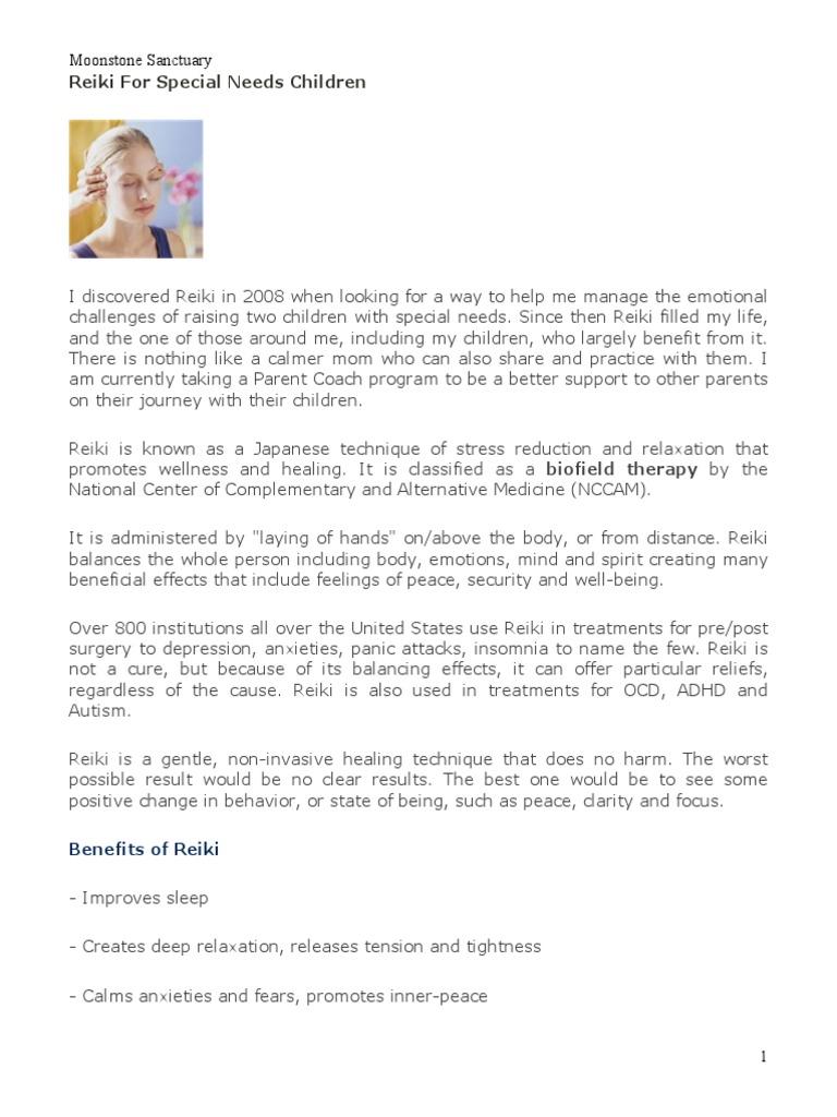 reiki special needs | Reiki | Relaxation (Psychology)