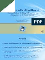 disparities in rural healthcare-nursing  oral health