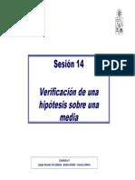 Clase 14 Prueba Hipotesis Media