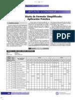 El Libro Diario de Formato Simplificado (Aplicación Práctica)111