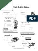 (03) Ecuaciones 2do Grado