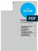 Electrostatic Copying Machine Key Operator's Guide • Key Operator Code