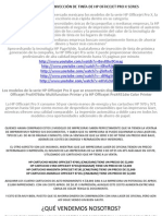Sistema Officejet Pro x Series