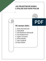 Laporan Praktikum Senyawa Polar Dan Nonpolar