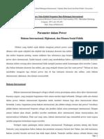 Parameter Dalam Power, Hukum Internasional Diplomasi Dan Elemen Sosial Politik