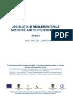Modul5-Legislatie Si Reglementari Specifice Antreprenoriatului