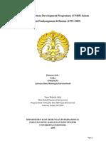 Peran United Nations Development Programme (UNDP) Dalam Membantu Pembangunan Di Burma (1973-1989)