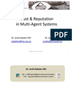 T9. Trust and Reputation in Multi-Agent Systems