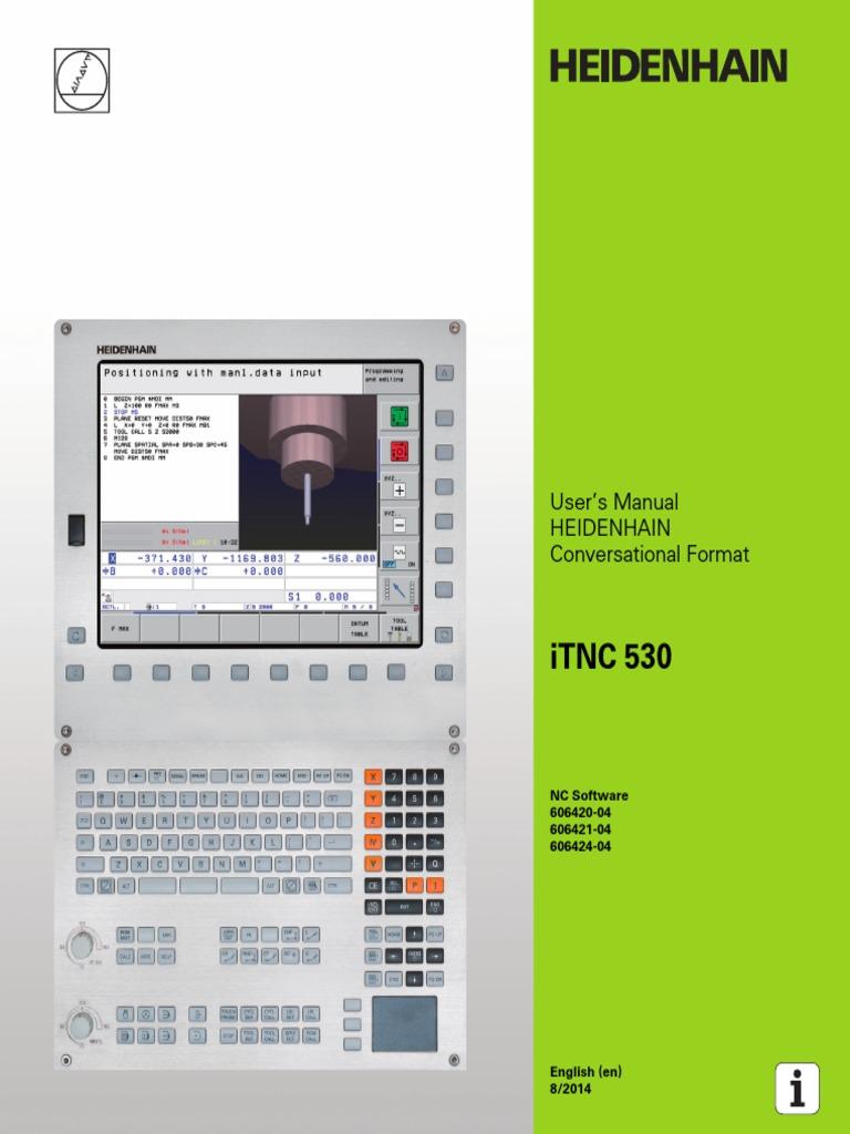 User's Manual HEIDENHAIN Conversational Format ITNC 530   Subroutine    Parameter (Computer Programming)
