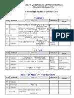 Calendario Concilio Sul Paulista - 2010