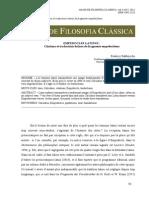 Bakhouche B. - Empedocles Latinus Citations Et Traductions Latines de Fragments Empédocléens - AFC 6-12-2012