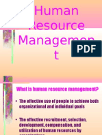 Human Resource Managemen t