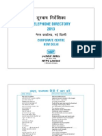 NTPC Telephone Directory for Corp Centre