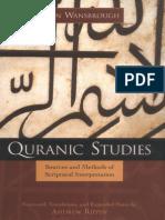 Wanbrough, Quranic Studies Sources and Methods of Scriptural Interpretation