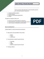 Job Description Writing - A Step by Step Guide