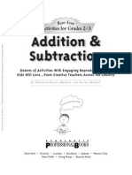 Add. & Sub. Activities - Gr 2-3