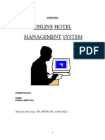 Online Hotel Management System Synopsis Report