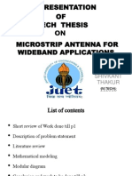 m.tech thesis on micristrip antenna